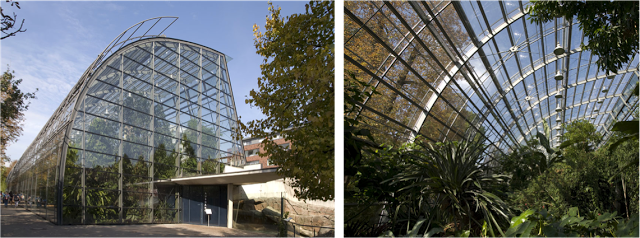 Amazonienhaus Stuttgart. Glass laminated panels with high UV transmission from Schollglas